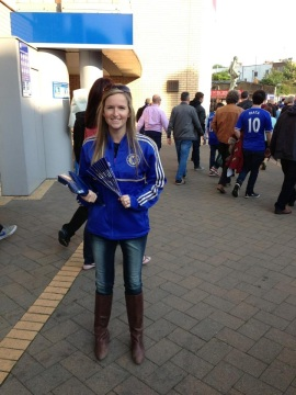 Me at a Chelsea Football Game in London
