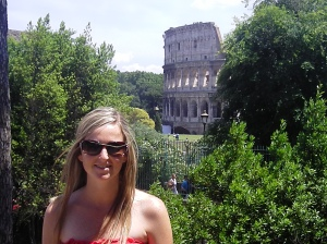 The Colloseum in Rome... our first week of sunny days :-)