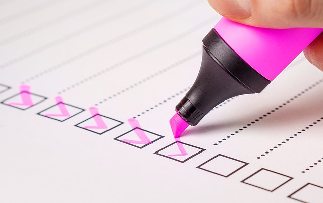 writing priority checklist