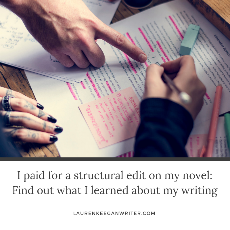 blog post structural edit and writing
