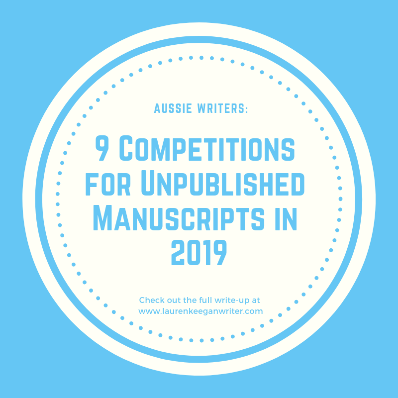 9 competitions for unpublished manuscripts in 2019